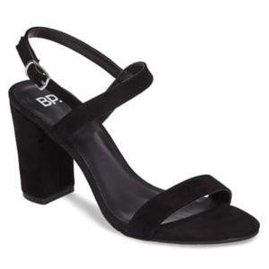 BP. Lula Block Heel Slingback Sandal Black Size 12